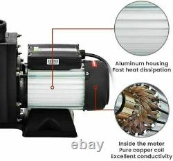 1.5HP In-Ground Swimming Pool Pump Motor Strainer Above Ground Energy Efficient