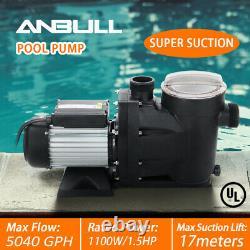 1.5HP Inground Swimming Spa Pool Pump 5040 GPH Speed Motor 2 Thread NPT UL