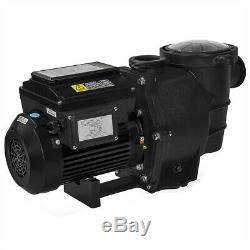 1.5HP Swimming Pool Pump Variable Speed Pump Digital LCD In-Ground Pool 230V