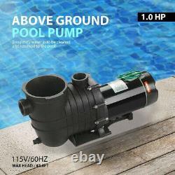 110-120v 1.0HP Inground Swimming Pool pump motor Strainer UL Certified USA STOCK
