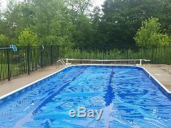 16' x 32' Rectangle Blue Swimming Pool Solar Pool Cover Blanket 1200 Series