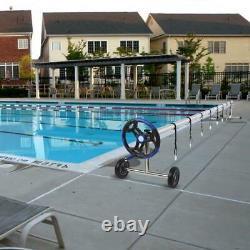 18 FT Pool Cover Reel Set Aluminum Solar Swimming Inground Cover Blanket Reel