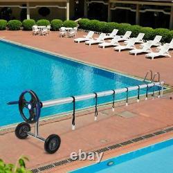 18 ft Pool Cover Reel Swimming Tube Set Solar Cover Inground Stainless Steel