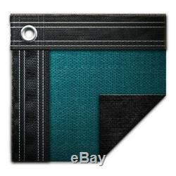 18' x 36' Rectangle In-Ground Swimming Pool Winter Cover 15 Year Teal Green