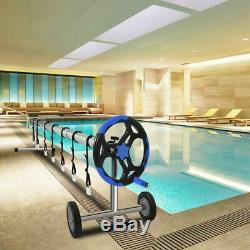 18FT Pool Cover Reel Set Aluminum Solar Swimming Inground Cover Blanket Reel