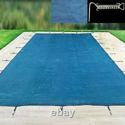 18ft x 12ft Winter Debris Cover Swimming Pool In-Ground Steel P-Spring Fixings