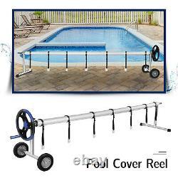 20 Feet Pool Solar Cover Reel Inground Swimming Pool Cover Blanket Reel Roller
