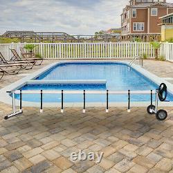 20 Ft Pool Solar Swimming Pool Cover Reel Inground Cover Blanket Reel Roller