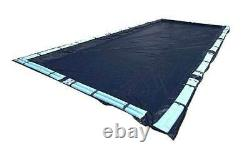 20 x40 Ft Dark Blue Winter Rectangular In Ground Pool Cover with Water Tubes
