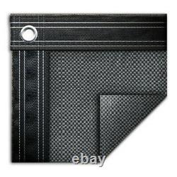 25' x 45' Rectangle In-Ground Swimming Pool Mesh Winter Cover 10 Year Gray