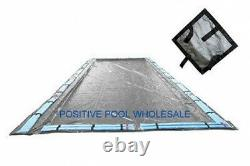 25x45 Rectangle 15 YR WARRANTY Inground Swimming Pool Winter Cover