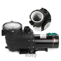 2HP 110-240v Inground Swimming Pool pump motor Strainer UL Certified USA