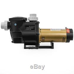 2HP In-Ground / Above Ground Swimming Pool Pump 2-Speed with Slip-On Fitting Set