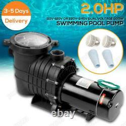2HPNEW ARRIVAL 110-240v Inground Swimming Pool pump motor Strainer ULCertified