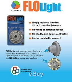 3 LED Swimming Above Inground Pool Flo Lights Wireless Universal Return 3 Pack