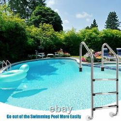 3 Step Stainless Steel Swimming Pool Ladder for In Ground Pool with Anti-Slip Step