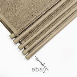 4'x12' ft In-Ground Swimming Pool Safety Fence Section Prevent Accidental Beige