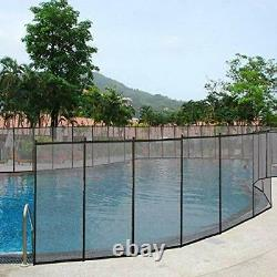 4X12' In-Ground Swimming Pool Fence Child Barrier Pool Safety Mesh Fence Section