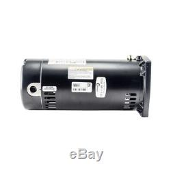 AO Smith Swimming Pool Motor USQ1152 Square Flange 1.5 HP Brand New Single Speed