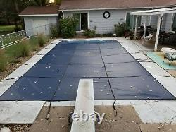 BLUE MESH In-Ground Swimming Pool Safety Cover 17x32
