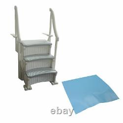 Confer CCXIG Gray Inground Swimming Pool Grand Entry Curve Steps Stairs + Mat