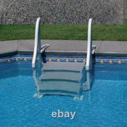 Confer CCXIG In Ground Swimming Pool Grand Entry Curve Steps Stairs System, Gray