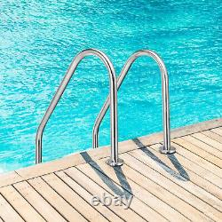 Costway Stainless Steel 2-Step Swimming Pool Ladder Non-Slip for In Ground Pools