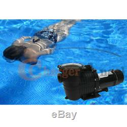 Dual Speed 2HP High-Flo INGROUND Swimming POOL PUMP Strainer Energy Saving US