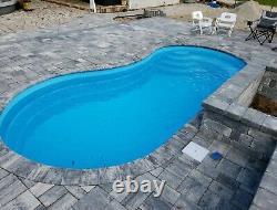 Fiberglass Inground Pool shell/ Install Kit Curve 10 (8.65 x 16.4 x 4.4 deep)