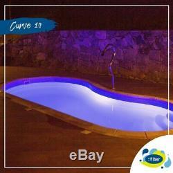 Fiberglass Inground Swimming pool shell Curve 10 (8.6 x 16.4 x 4.4 deep)