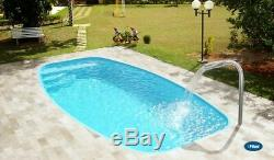 Fiberglass Inground Swimming pool shell Italy 10 (8.65x 15.1 x 4.3 deep)