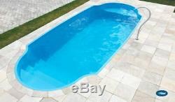 Fiberglass Inground Swimming pool shell New Italy 4 (5.9 x 13 x 3.2 deep)