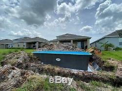 Fiberglass Inground Swimming pool shell Praia 17 (9.9 x 19.7 x 4.3 deep)