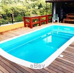 Fiberglass Inground Swimming pool shell Praia 7 (7.2 x 13.1 x 4.3 deep)