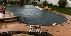 Free-Form/Kidney-Shaped Safety Mesh Swimming Pool Cover- USA MADE