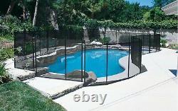 GLI 30-0510-BLK Inground Removable Safety Fence 5' high x 10' wide panel Black