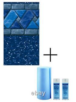 GLI Ocean Blue Inground Swimming Pool Replacement Liner 20 Mil (Choose Size)