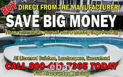 In-Ground Fiberglass Pool Leading Edge Manistique Do It Yourself Package