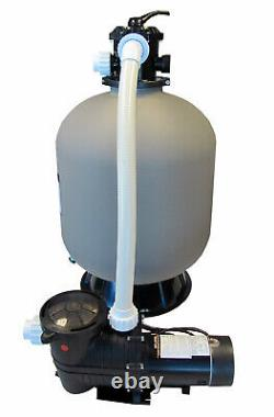 In-Ground Swimming Pool 24 Sand Filter System with 2 Speed 1 HP Pump