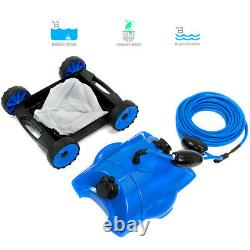 In-Ground Water Bots Above Swimming Pool Rover Robotic Floor Vacuum Cleaner Blue