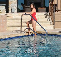 Inter-Fab 5 Bend Deck To Deck Mounted Stair Rail For Inground Swimming Pool