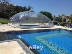 Mini Inflatable Hot Tub Swimming Pool Solar Dome Cover Tent With Blower & Pump
