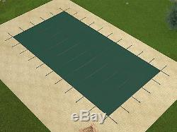 Rectangle GREEN MESH Swimming Pool Safety Cover 15 Year Warranty (Choose Size)