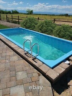 Rectangular above ground swimming pool, plunge pool, container pool, in ground
