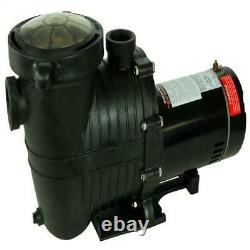 Rx Clear De Element In-Ground Swimming Pool Filter System With 1 Hp Pump