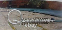 SWIMMING POOL INGROUND DELUXE WINTER DEBRIS COVER 24' x 12' WITH S/S FIXINGS