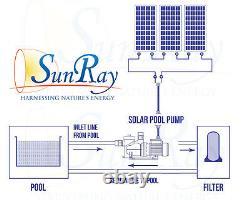 Solar Power Swimming Pool Inground Pond 1HP 60v 2 Solar Panels Above Ground Pump