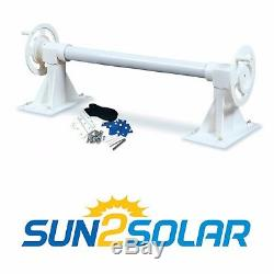 Sun2Solar Inground Swimming Pool Solar Blanket Cover Reel Up to 20' Wide