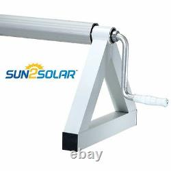 Sun2Solar Low Profile In-Ground Swimming Pool Solar Cover Reel with Tube