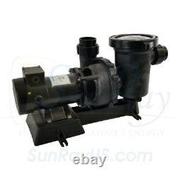 SunRay Inground 2 100w 34v Panels Pond Solar Swimming Pool Pump DC 0.5HP Motor